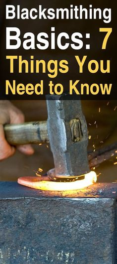 Blacksmithing Basics: 7 Things You Need to Know. Taking up blacksmithing doesn't just mean making decorative items. There are many things a blacksmith can make for use around the homestead. Metal Projects, Welding Projects, Metal Crafts, Welding Art, Welding Ideas, Welding Crafts, Welding Tips, Copper Welding, Farm Projects