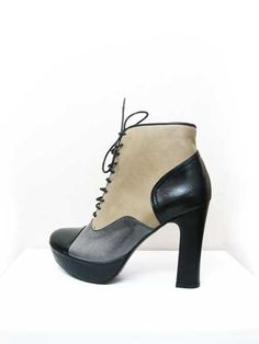 Love these!  Ankle Leather Boots by pantofica on Etsy, €90.00
