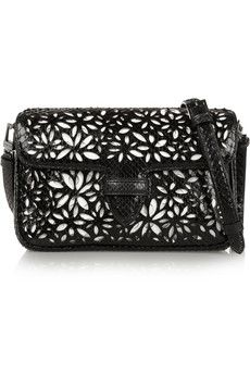 7cf7cbc9a3 Alaïa - Double Pocket Margarite small python and leather shoulder bag