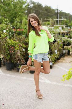 Lime Green Sheer Tunic such a cute outfit from Hazel and Olive @ http://www.hazelandolive.com/#!
