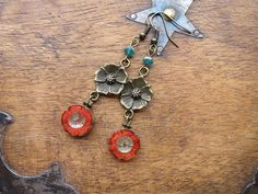 Antique Blossoms Beaded Earrings £6.95