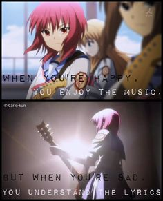 I still remember this scene :\'(  Anime:Angel beats