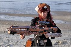 Steampunk Expedition2013 - 066. Now that's a GUN!!!