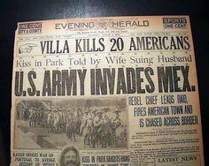 Pancho Villa Army   Pancho Villa Columbus New Mexico RAID Massacre U s Army 1916 Newspaper ...