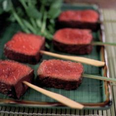 While visiting a ryokan, a traditional Japanese inn, on the outskirts of Tokyo, owner and chef Sakamoto Shinichirō shared this recipe with us. Salted beef