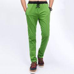 Sale 12% (19.99$) - Men Casual Sports Pants Summer Leisure Slim Fit Trousers Sweatpants