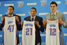 Thunder Draft picks- Grant Jerrett, Andre Roberson and Steven Adams