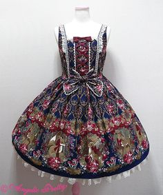 Classic Fairy Tale JSK in Navy « Lace Market: Lolita Fashion Sales and Auctions