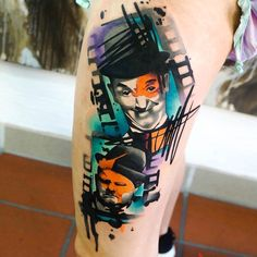 Laurel and Hardy tattoo by Dynoz Art Attack