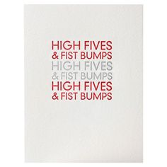 High Fives and Fist Bumps - Set of 4 from Sapling Press $12.95