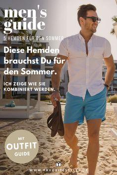Für den Sommer sind Hemden eine gute Wahl. Sie sind gut kombinierbar und leicht und locker zu tragen. Aber welche Hemden brauchst du eigentlich für den Sommer. Ich habe eine Auswahl an Freizeithemden für den Sommer zusammengestellt.