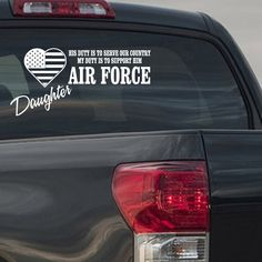 His Duty Is To Serve Our Counrty My Duty Is To Support Him Air force Daughter Wall Decal - Vinyl Decal - Car Decal - CF143