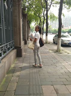 Club Monaco jeans...street style so simple