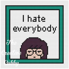Daria I hate everybody Cross Stitch Pattern by TheCreativeCubby