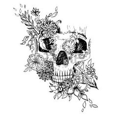 skull and flower - Google Search