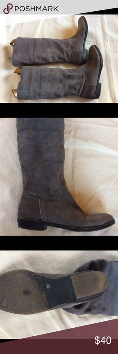 Suede Nine West Boots Pre-owned Vintage American 9 WEST Boots Pull-On Mid calf, can be rolled down. Unlined. Very Comfy... Festival ready vibz🎪🎼 Nine West Shoes Ankle Boots & Booties