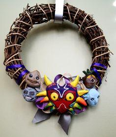 The Legend of Zelda Majora's Mask Wreath by AtomicWonderland, $45.00