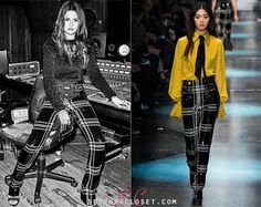 Selena Gomez is in the November 2015 issue of Grazia Magazine slaying in plaid pants from the Roberto Cavalli Fall 2015 Collection