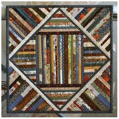 strip quilt. this is a great scrap buster project