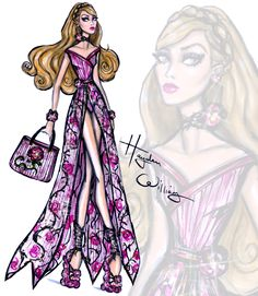 Hayden Williams Fashion Illustrations | Disney Divas 'Beach Beauties' by Hayden Williams:...