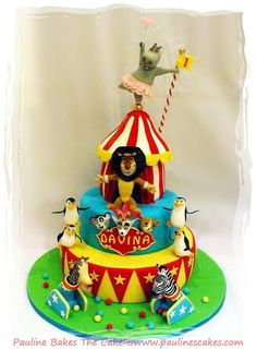 Cirque du Madagascar... The Circus Comes To Town! - Cake by Pauline Soo - Pauline Bakes The Cake!