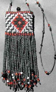 Taniko red and black bag