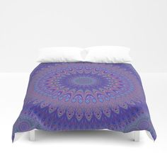 Cosy Bedroom Purple Mandala Duvet Cover by David Zydd Blue Bedroom Decor, Cosy Bedroom, Living Room Decor, Bedroom Wall, Bedroom Ideas, Cheap Beach Decor, Cheap Home Decor, Home Decoration, Mandala Duvet Cover