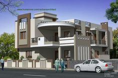 Curve with nerve House design by Rachana Architect from Godhra Gujarat ♣ See More details at the web address.