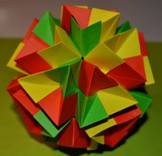 Origami revealed flower popup star crafts pinterest kusudama daniel reutskiy mightylinksfo