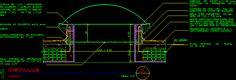 Detalle constructivo de una cupula residencial (dwgDibujo de Autocad)