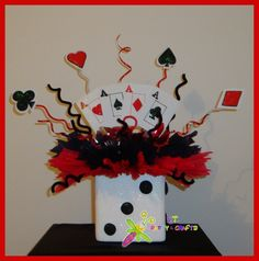 Casino theme centerpiece