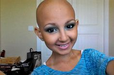 Talia Joy Castellano...12 years old with two types of cancer.  Her biggest wish is to be Ellen Degeneres' makeup artist for a day.  #inspired