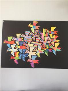Vogels knutselen Escher Quilt Art, Art For Kids, Crafts For Kids, Alternative To Plastic Bags, Bright Pictures, Mc Escher, Printed Bags, Plush Animals, Kraft Paper