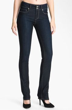 Paige 'Hidden Hills' Straight Leg Stretch Jeans (Fountain) available at Nordstrom item #561715
