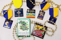 Fiesta Oyster Bake medals and pins