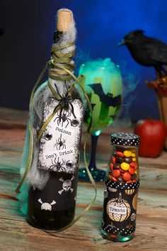 Cathie Filian {Cathie and Steve like to make things.}: Halloween Witch Crafts: Poison Wine Bottles