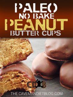 Paleo Dessert Recipes Chocolate Peanut butter cups main image