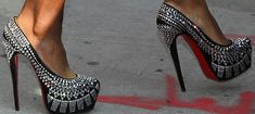 """Who Looked Best in the Christian Louboutin """"Decorapump"""" Strass Platform Pumps?"""
