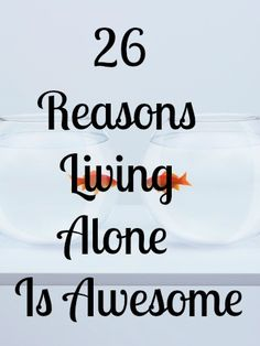 How many of you live alone?