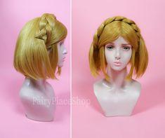 Disney Princess Cinderella Golden Anime Cosplay Cute Wig Contract Awarding Lady