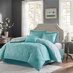 Add a modern touch to your bedroom's décor with the exquisite Madison Park Essentials Merritt Reversible Comforter Set. Adorned with a fretwork design, the trendy bedding brings a simple yet chic look to your guest or master bedroom.