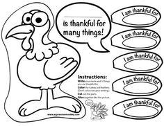 Thankful Turkey Thanksgiving Craftivity
