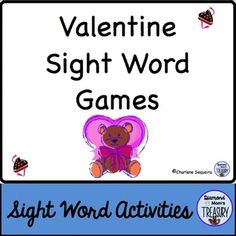 Valentine Sight Word Memory GameThis set includes a set of colored valentine bears sight word shapes cards. There is also a blank shape page for adding other words.  The game is played as a typical memory game. You will need to make 2 copies of each sheet in order to do the matching.Valentine Sight Word Flash CardsUsing the same templates, you can print out the bears on card stock and cut them out into flashcards.