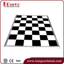 TourGo Plain Acrylic Black and White Dance Floor 15ft x 15ft
