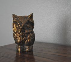 This brass owl is a real hoot.