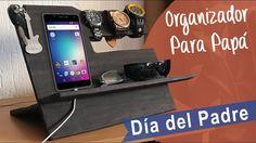 Organizador para Papá :: regalo día del Padre Diy Recycle, Recycling, Ideas Originales, Youtube, Phone, Ballet, Party, Frases, Amor