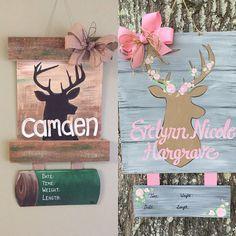 Personalized Handpainted Deer Hospital Door Hanger by Handiwork210