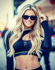 Monster Energy Girls, Monster Girl, Pit Girls, Promo Girls, Umbrella Girl, Beautiful Athletes, Hot Blondes, Lady, Sexy Outfits