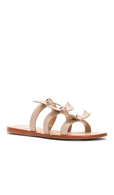 59f17f7ba651 Shop for Kaanas Recife Bow Sandals in Nude at REVOLVE. Free 2-3 day