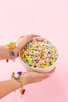 Make This Magically Easy Lucky Charms Bracelet for the Perfect St. Patrick's Day Accessory Vaporwave, Art Inspo, Rainbow Donut, Lucky Charm Bracelet, St Patrick's Day Outfit, Vsco, Jewelry Photography, Photography Lighting, Fashion Bracelets